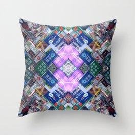 Hong Kong Kaleidoscope 03 Throw Pillow