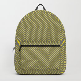 Yellow grey lines Backpack
