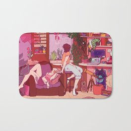 Strawberry Afternoons Bath Mat