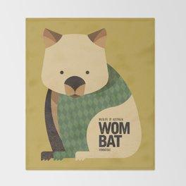 Hello Wombat Throw Blanket