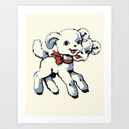 Sweet two-headed lamb Art Print
