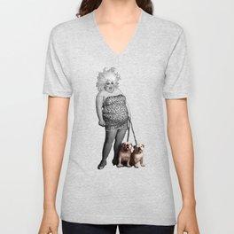 Divine and her dogs Unisex V-Neck