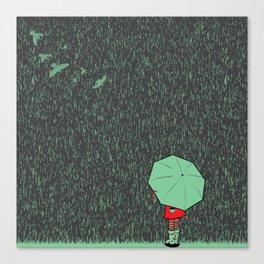 rain falls Canvas Print