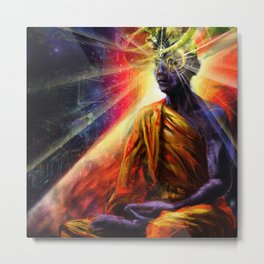 Digital Meditation Metal Print