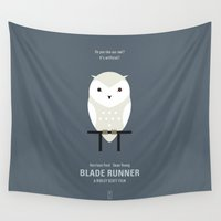 runner Wall Tapestries featuring Blade Runner by Smile In The Mind