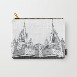 San Diego LDS Temple Ink Drawing Carry-All Pouch