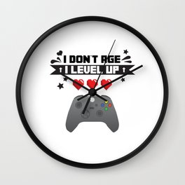 i don t age i level up gamer console Wall Clock