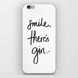 Smile - Gin iPhone Skin