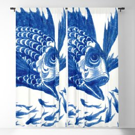"William De Morgan ""School of Fish"" Blackout Curtain"