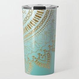 Pretty hand drawn tribal mandala elegant design Travel Mug