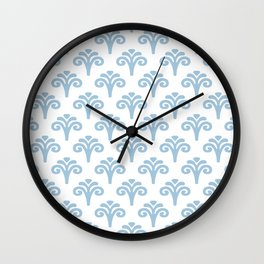 Floral Pattern Pale Blue 241 Wall Clock