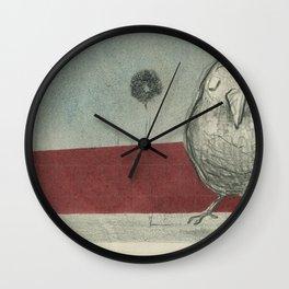 Shy Bird Wall Clock