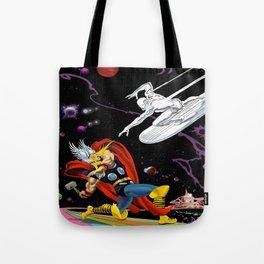 Thunder God vs Sky-Rider Of The Spaceways! Tote Bag
