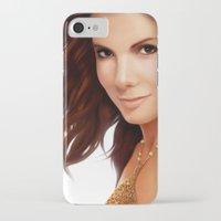 sandra dieckmann iPhone & iPod Cases featuring Sandra Bullock by RoPerez