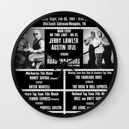 #11-B Memphis Wrestling Window Card Wall Clock