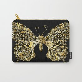 Gold butterfly Carry-All Pouch