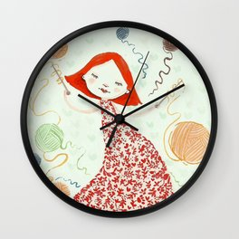 weaving dreams Wall Clock