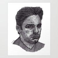 ben giles Art Prints featuring Ben by jamestomgray