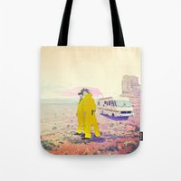 breaking bad Tote Bags featuring Breaking Bad by PIXERS