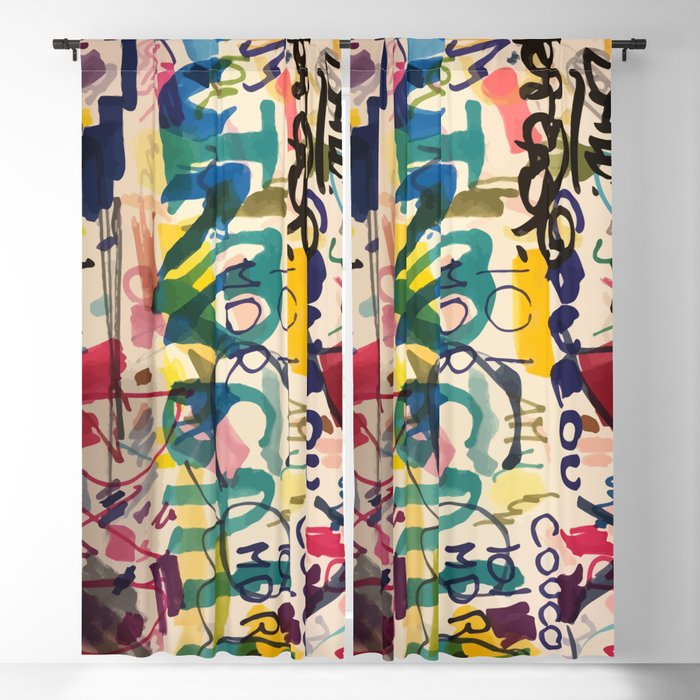 Urban Graffiti Paper Street Art Blackout Curtain