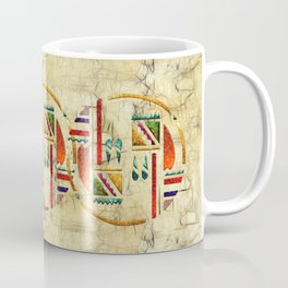 Tribal God War Dance Folk Art Coffee Mug