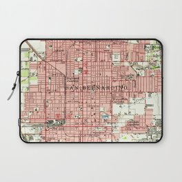 Vintage Map of San Bernardino California (1954) Laptop Sleeve