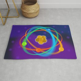 Atomic Structure Spots Rug