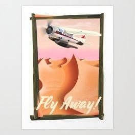 Fly Away! Art Print