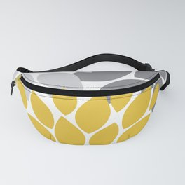 petals grey and yellow Fanny Pack