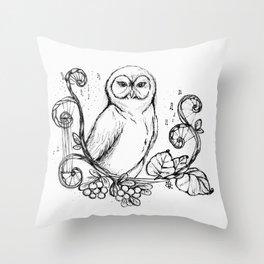 """The Wise Owl"" Magical Woodland Animals series 4 The Original Artwork Throw Pillow"