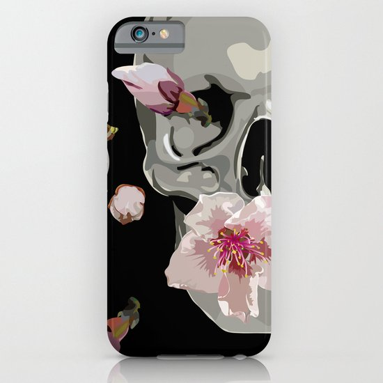 """""""Spring"""" Skull and flowers iPhone & iPod Case"""