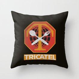 Tricatel Throw Pillow