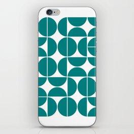 Mid Century Modern Geometric 04 Teal iPhone Skin