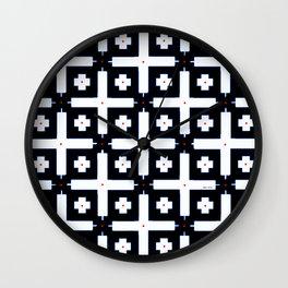 Geometric in Black and White Wall Clock