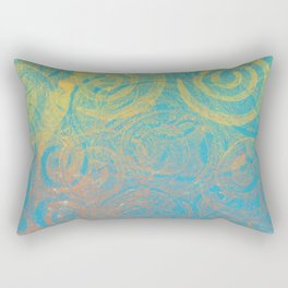 Gelatin Monoprint 3 Rectangular Pillow