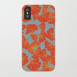 Tumbling Ginkgo Red iPhone Case