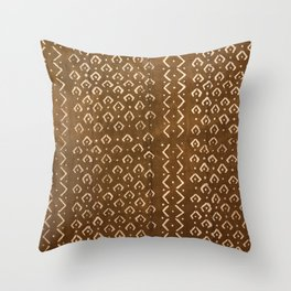 brown croc/snakeskin Throw Pillow