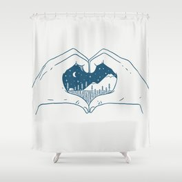 Love Nature Shower Curtain