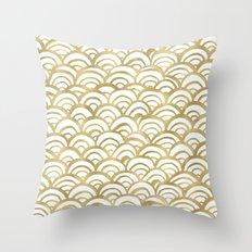 Gold Mermaid Throw Pillow