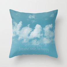 Blue Sky Meditation Throw Pillow