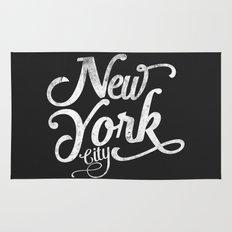 New York City vintage typography Rug