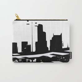 City Scape in Black and White Carry-All Pouch
