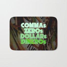 Comma, Zero, Dollar and Dinero Bath Mat
