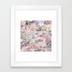 Charlotte map Framed Art Print