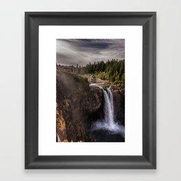 Twin Peaks Falls Framed Art Print