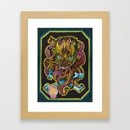 eight arms. Framed Art Print