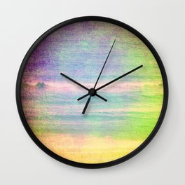 Abstract grunge ocean view Wall Clock