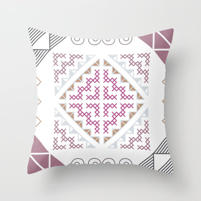 Tribal Hmong Design Throw Pillow By Rosesandbliss Society60 Custom Hmong Pattern