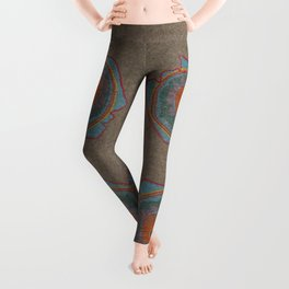 Growing - Thuja - plant cell embroidery Leggings
