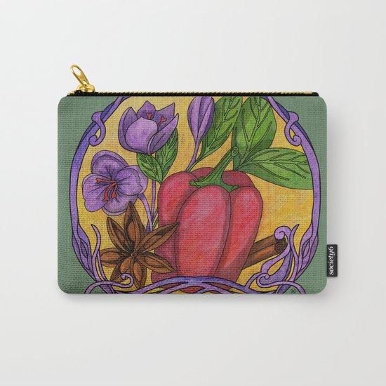 Art nouveau. Spices Carry-All Pouch